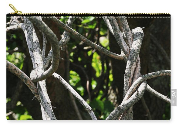 Carry-all Pouch featuring the photograph Tangled by William Selander
