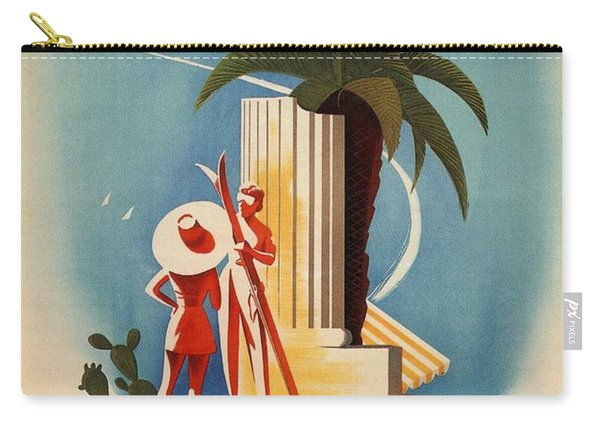 Taormina, Sicily, Italy - Couples - Retro Travel Poster - Vintage Poster Carry-all Pouch