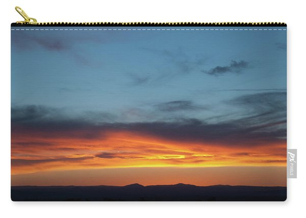 Carry-all Pouch featuring the photograph Taos Mesa Sunset by Jason Coward