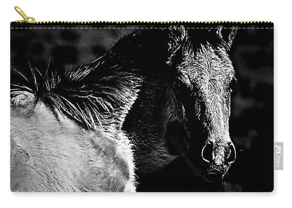 Taos Pony In B-w Carry-all Pouch
