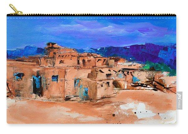 Taos Pueblo Village Carry-all Pouch