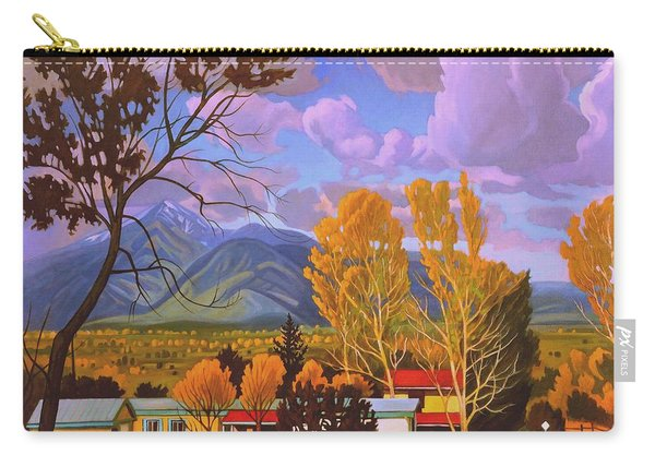 Taos Red Roofs Carry-all Pouch