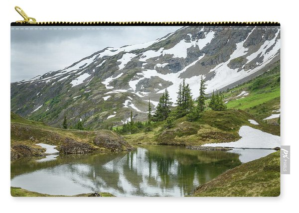 Carry-all Pouch featuring the photograph Tarns Of Nagoon 209 by Tim Newton