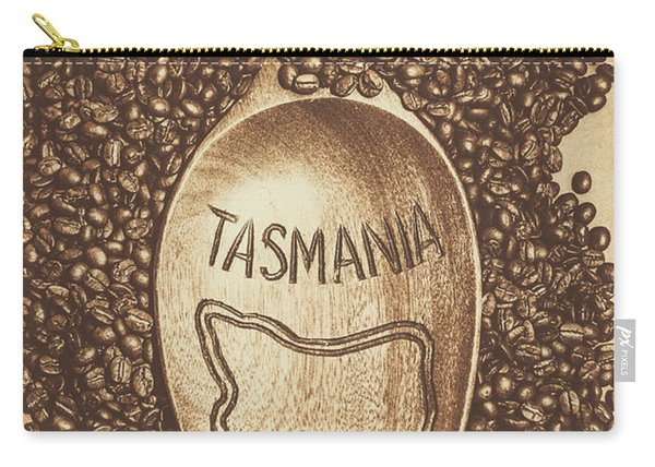 Tasmania Coffee Beans Carry-all Pouch