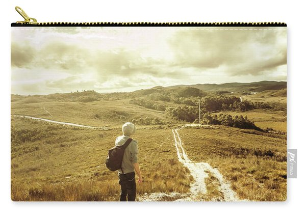 Tasmanian Man On Road In Nature Reserve Carry-all Pouch