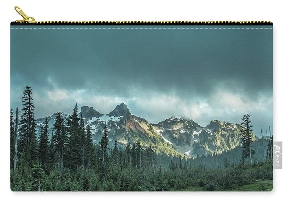 Tatoosh With Storm Clouds Carry-all Pouch