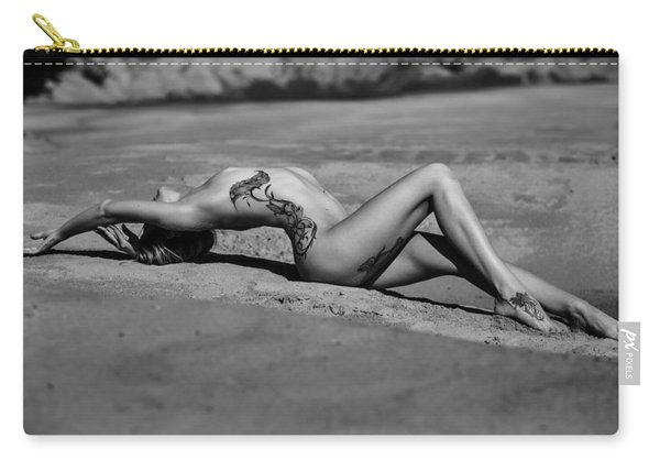 Tattoo Woman On The Beach Carry-all Pouch