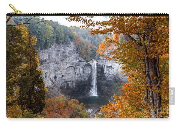 Carry-all Pouch featuring the photograph Taughannock Autumn by William Norton