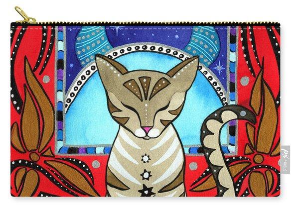 Taurus Cat Zodiac Carry-all Pouch