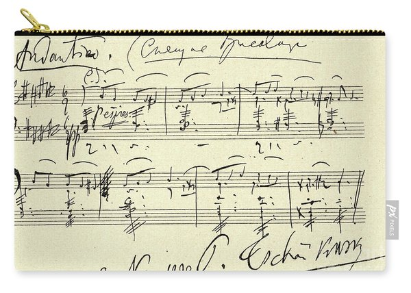 Tchaikovsky Autographed Score Carry-all Pouch