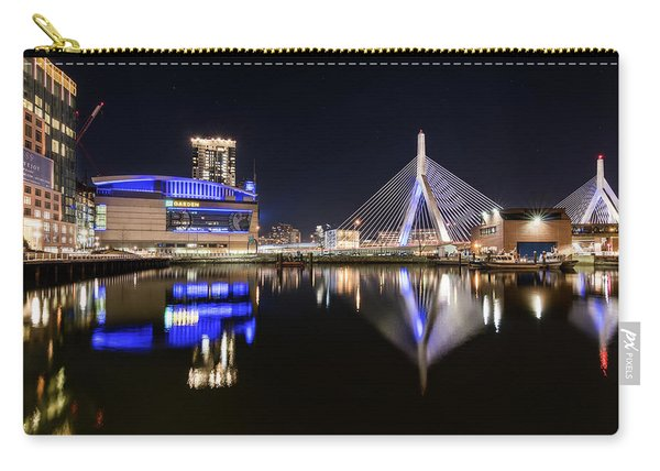 Td Garden And The Zakim Bridge At Night Carry-all Pouch