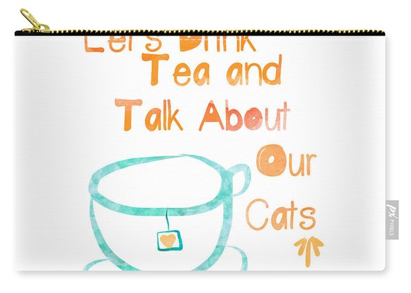 Tea And Cats Square Carry-all Pouch