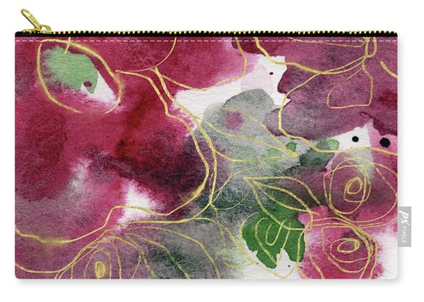Tea Cup Roses- Art By Linda Woods Carry-all Pouch