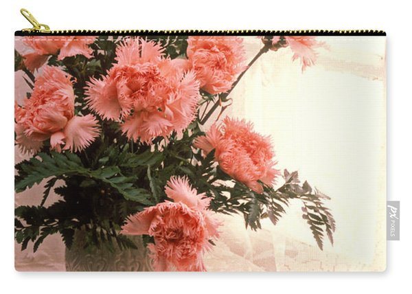 Tea Cup With Pink Carnations Carry-all Pouch