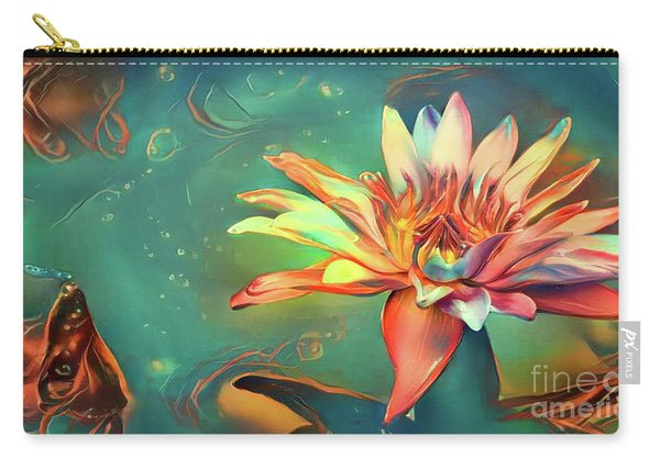 Teal Waterlilies 5 Carry-all Pouch