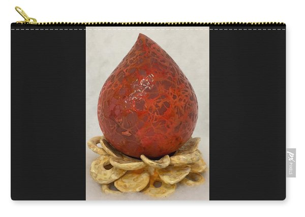 Tear Of Hope - Red And Gold  Carry-all Pouch