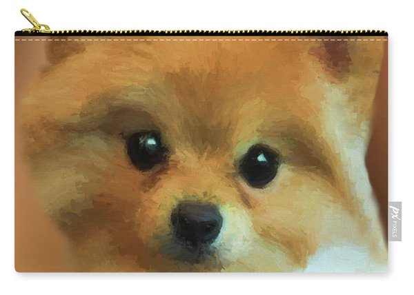 Teddy Bear Pomeranian 471 - Painting Carry-all Pouch