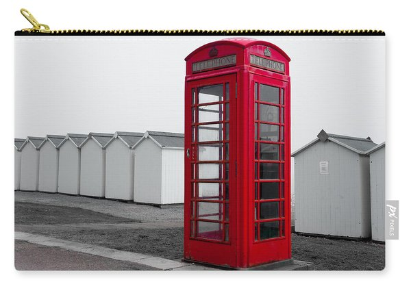 Telephone Box By The Sea I Carry-all Pouch