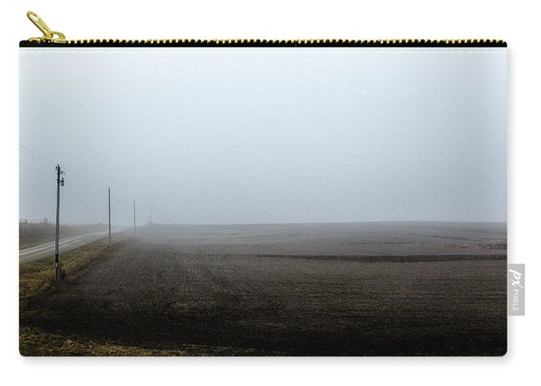 Telephone Poles Along A Foggy Field Carry-all Pouch