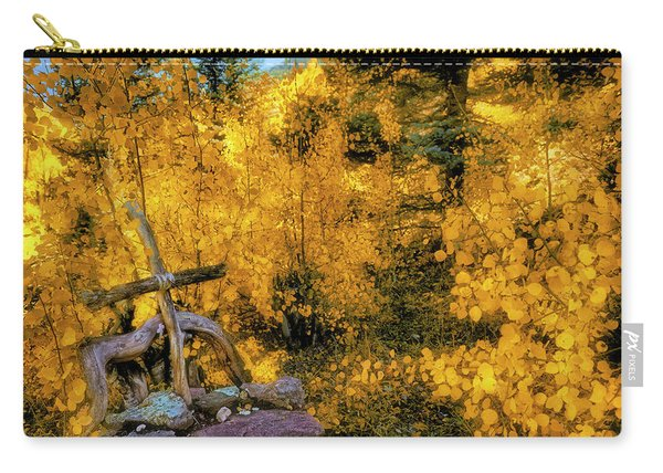 Telluride Spirituality - Colorado - Autumn Aspens Carry-all Pouch