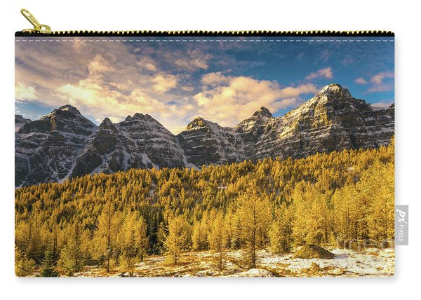 Ten Peaks Canadian Rockies And Golden Fall Larch Colors Carry-all Pouch