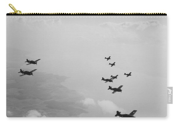 Ten Wildcats In Flight Over The Coast  Carry-all Pouch