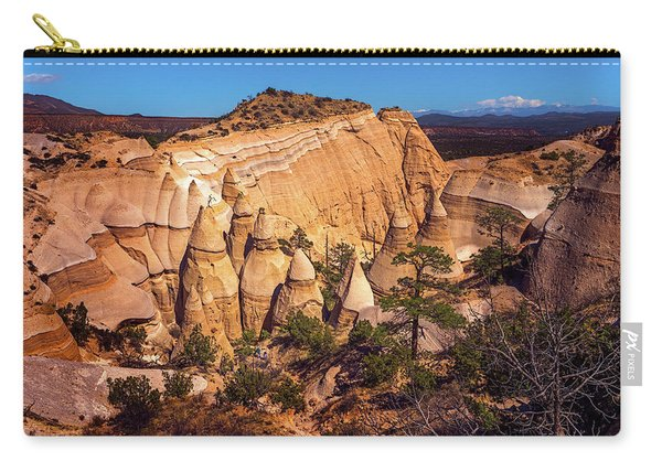 Tent Rocks From Above Carry-all Pouch