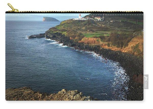 Terceira Island Coast With Ilheus De Cabras And Ponta Das Contendas Lighthouse  Carry-all Pouch