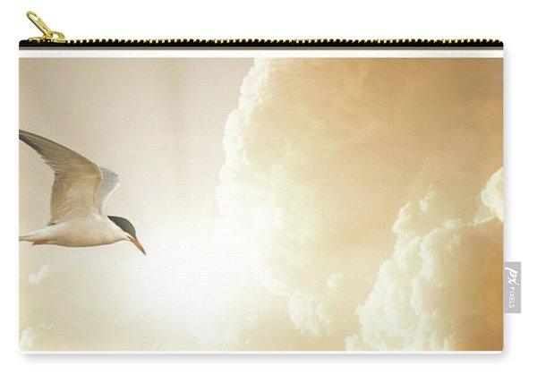 Tern In Flight, Spiritual Light Of Dusk Carry-all Pouch