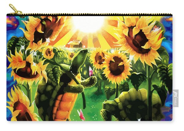 Terrapin Sun Flowers Carry-all Pouch