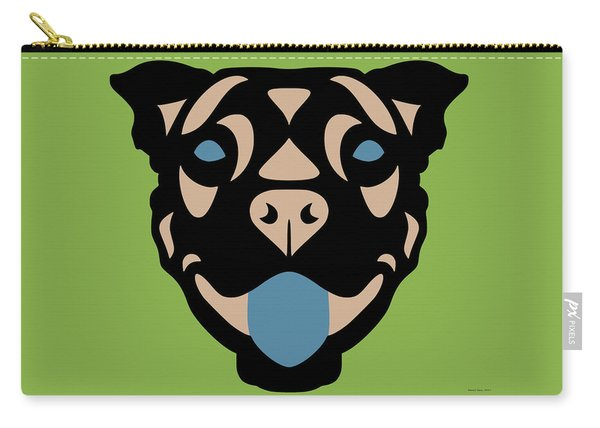 Terrier Terry - Dog Design - Greenery, Hazelnut, Niagara Blue Carry-all Pouch