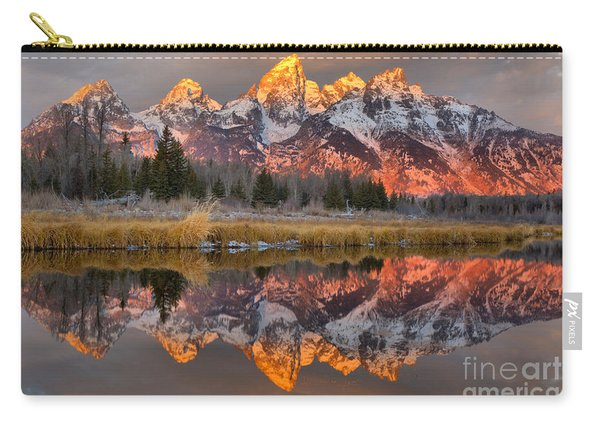 Teton Mountains Sunrise Rainbow Carry-all Pouch