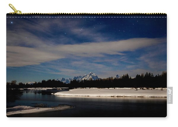 Tetons At Moonlight Carry-all Pouch