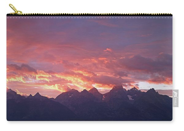 Carry-all Pouch featuring the photograph Tetons Sunset by Jean Clark