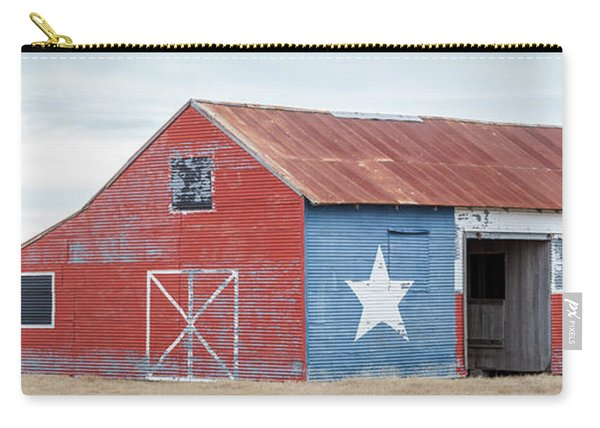 Texas Barn With Goats And Ram On The Side Carry-all Pouch