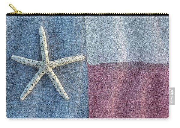 Texas Beach Flag Carry-all Pouch