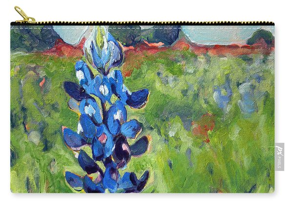 Texas Blue Bonnet Carry-all Pouch