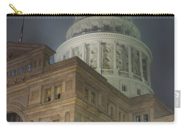 Texas Capitol In Fog Carry-all Pouch