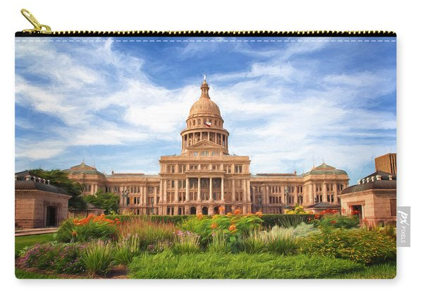 Texas Impressions Texas State Capitol II Carry-all Pouch
