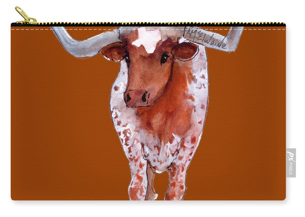 Texas Longhorn Branded  Carry-all Pouch