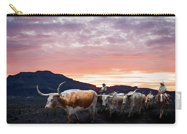 Texas Longhorn Orange Morning Carry-all Pouch