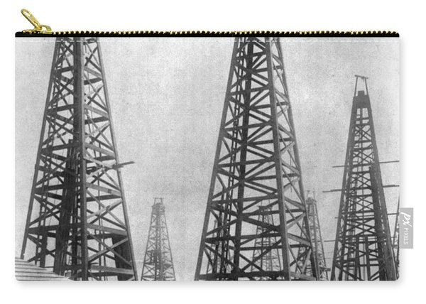 Texas: Oil Derricks, C1901 Carry-all Pouch