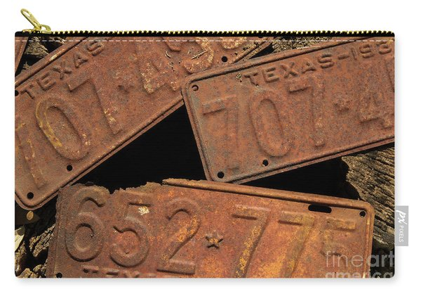 Texas Plates Carry-all Pouch