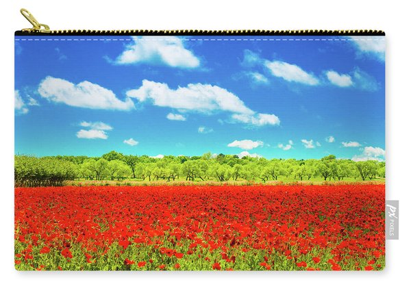 Texas Red Poppies Carry-all Pouch