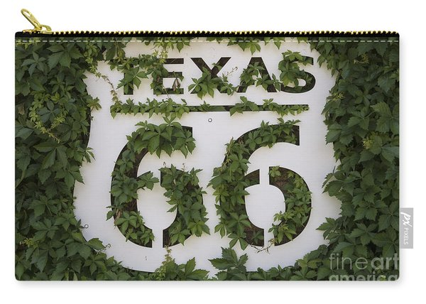 Texas Route 66 Sign Carry-all Pouch