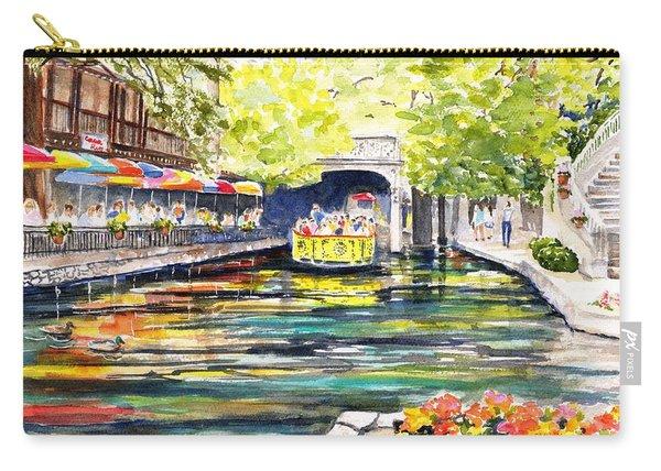 Texas San Antonio River Walk Carry-all Pouch