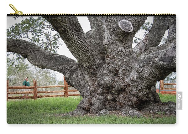 Carry-all Pouch featuring the photograph Texas State Champion Live Oak by Mary Lee Dereske