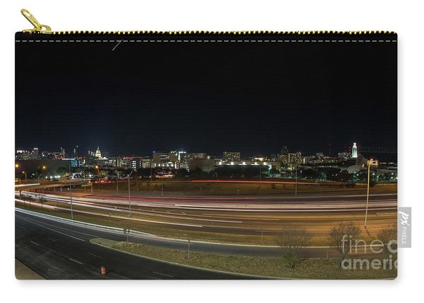 Texas University Tower And Downtown Austin Skyline From Ih35 Carry-all Pouch