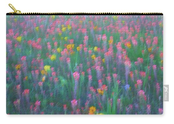 Texas Wildflowers Abstract Carry-all Pouch