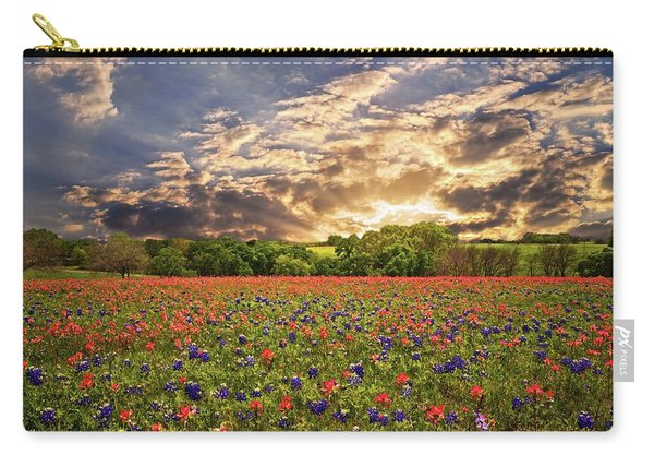 Texas Wildflowers Under Sunset Skies Carry-all Pouch